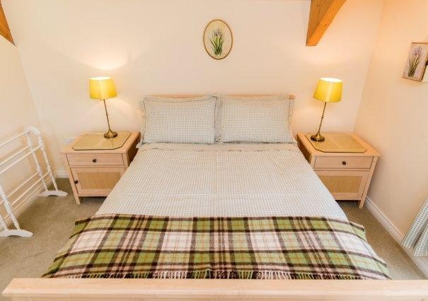 Bedroom in the Harvest Holiday Cottage