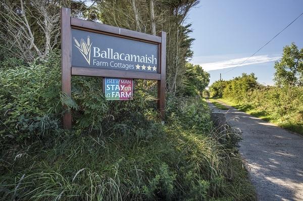 Sign at entrance to Ballacamaish