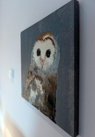 An owl painting