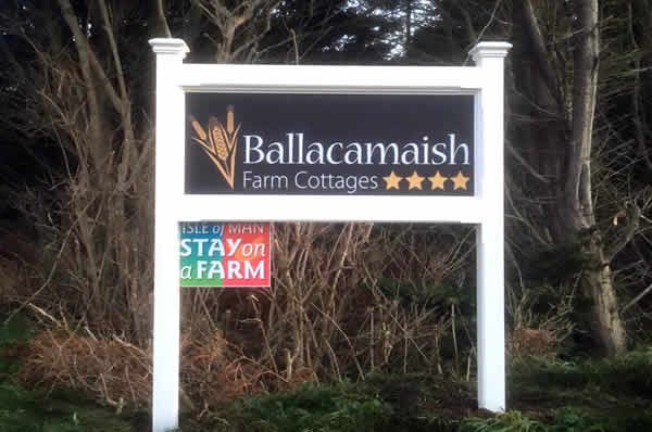 Entrance to Ballacamaish Farm self catering cottages