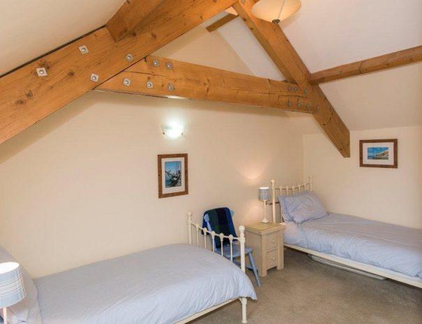 Lavender twin bedroom